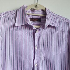 Etro Milano 43 Striped Button Up Casual Shirt